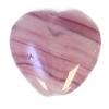 Glass Pressed Beads 10x10mm Heart Violet Stripe